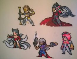 League of Legends small perler sprites. by Bgoodfinger