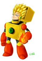 Saiyajin heat man by Gingler