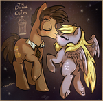 Doctor Whooves x Derpy Hooves by Velexane