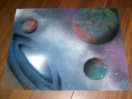 space and worm holes by 611productions