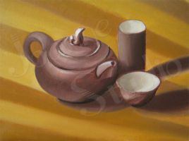 Teapot_oil on canvas by iSunnyLife