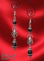 Nocturne Scarab Earrings by ArtOfAdornment