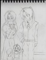 Getting ready for the Elric Family Photo by AnimeEmm