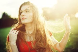 Hair in the sun by antoanette