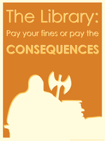 The Library PSA by coinoperatedbear