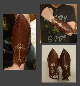 Leather Gondor Vambraces by Woppy42