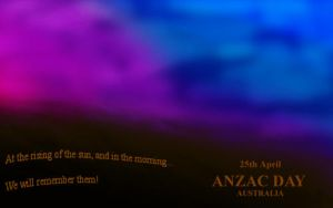 Anzac Day: Tribute by Aliies