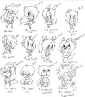 Sonic character cast chibies by MagicalPouchOfMagic