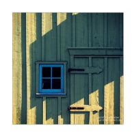Green and Blue Barn by Karl-B