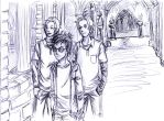 Harry and his bodyguards by Noreo2