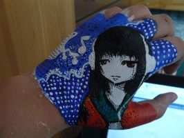 HandArt: Jigoku Shoujo by Flowerpower666