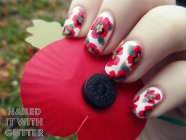 Poppies by NailedItWithGlitter