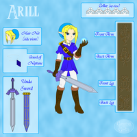 Adult Arill Character Sheet (Classic Design) by GamingGirl73