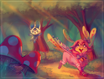 :commission: Forest Stroll by kori7hatsumine