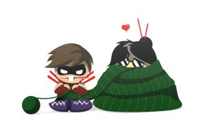 The Knitter and Purl by FighterAmy