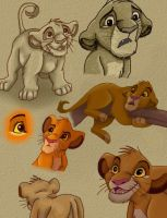 Disney Sketches: Young Simba by NostalgicChills