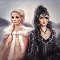 Once Upon a Time: Emma + Regina by daekazu