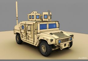 WIP - Armored Vehicle - HMMWV - 2 by freiheitskampfer