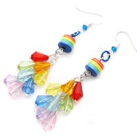 Rainbow Drop Earrings by fairy-cakes