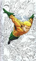 Aquaman and his Finny Friends by davidjcutler