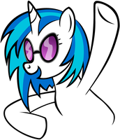Vinyl Scratch Stylized by Cubonator