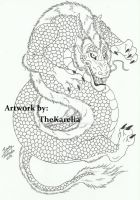 Dragon Tattoo Outline by TheKarelia