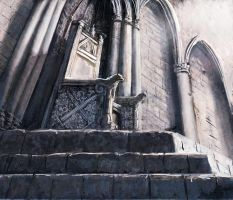 Winterfell throne by MarcSimonetti