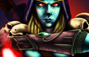 The Dark Lady: Sylvanas by rbl-art