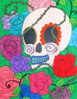 Roses Skull by ToniTiger415