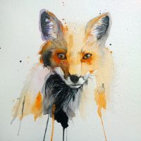 fox watercolor by excentric