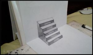 The Stairs to the Abyss ~3D Drawing~ by Keith-arts02