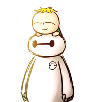 Baymax and Butters by aq1746950