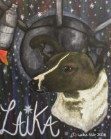 Laika Memorial Painting by Laika-Star