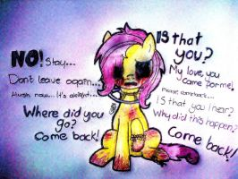 Amnesia Fluttershy by Io-Andromeda