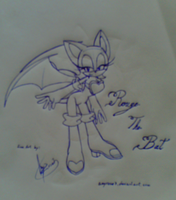 Rouge the bat :lineart: by amyrose7