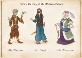 Magician Knight and Margravine Designs by rillani