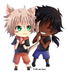 -- Chibi commission for Shuichiboy -- by Kurama-chan