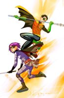 Hitgirl and Robin by evnaccd