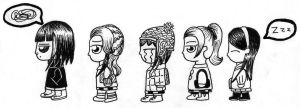 Chibi AyC characters by Anne-annie-annet