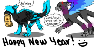 Happy New Year! by Dragon-Wolf-Lover