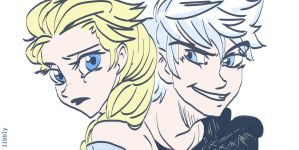 Jack and elsa by JibblyUniverse