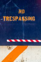 no trespassing by stachelpferdchen