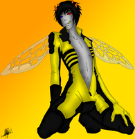 Sexy bee Sollux -Colour- by QuartzofRain