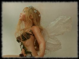 08 Spring Fairy sculpture ooak, 1 inch head by Rosen-Garden