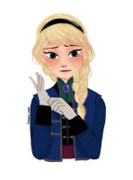 Elsa With Gloves by kanani-chan