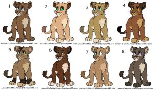 More adoptables by GiuuM