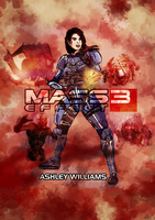 Mass Effect 3 Characters part 1 - Ashley by Sketchy-raptor