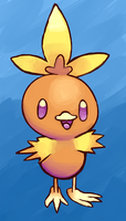 Torchic Painting by SupahSanti