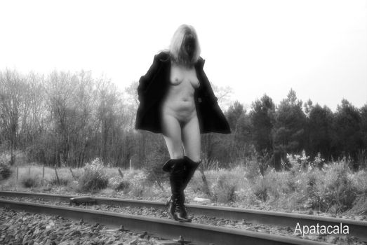 Waiting the train by Apatacala