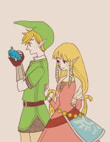 Link and Zelda by piore